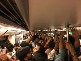 Delhi Metro when it has quietened down a bit