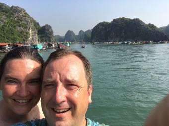 Preparing for our departure from Ha Long Pay