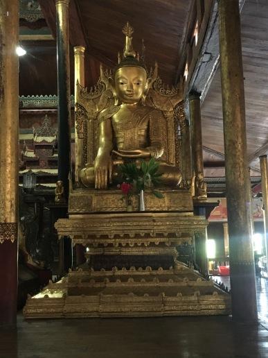Inside Nga Phe Kyaung Monastery