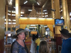 The interior of the Pagoda containing the fifth buddha that could not make it onto the boat